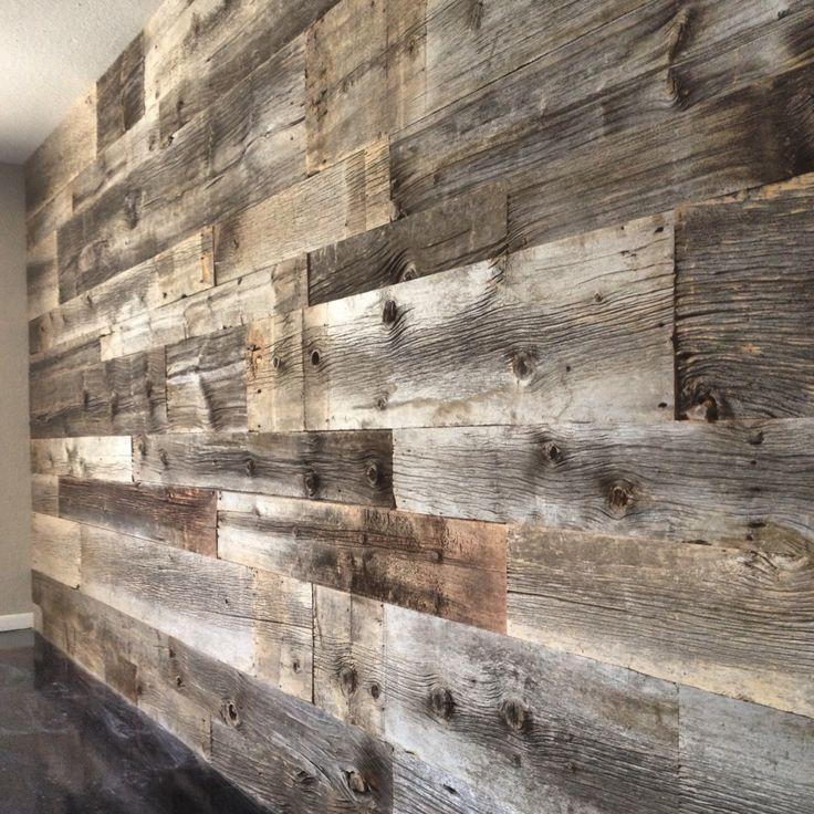 Reclaimed grey hemlock siding wall beautiful grey and for Recycled wood siding