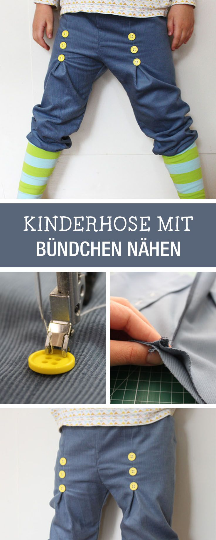 DIY-Anleitung: Kinderhose mit Bund nähen, Spielhose für Kinder / DIY tutorial: sewing pants with waistband, childrens trousers for playing via DaWanda.com