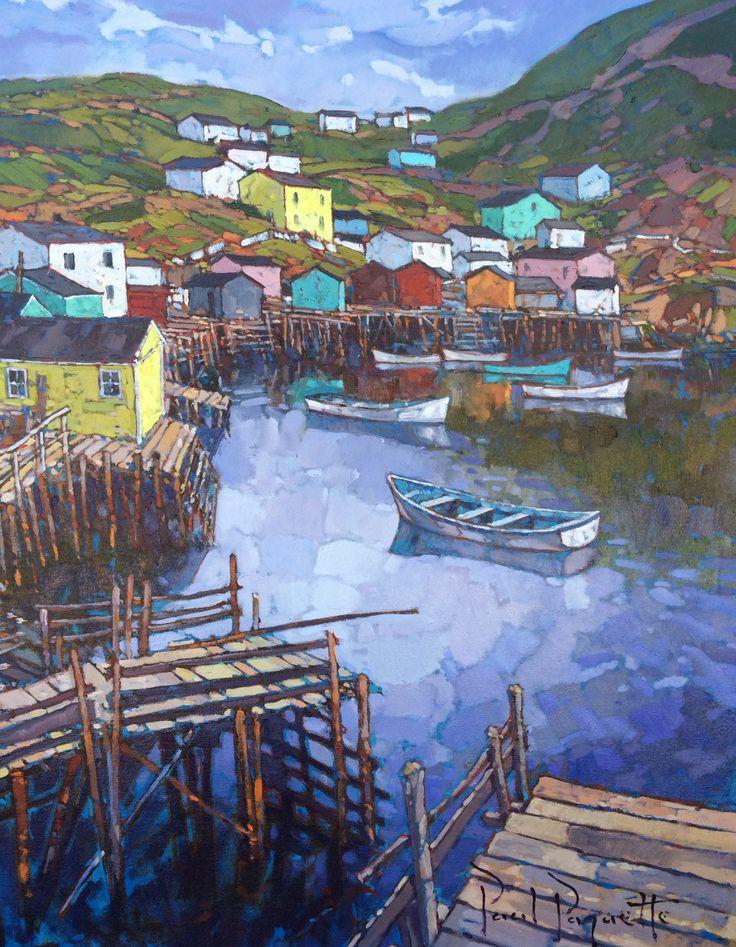 The Out port by Paul Paquette #oiloncanvas