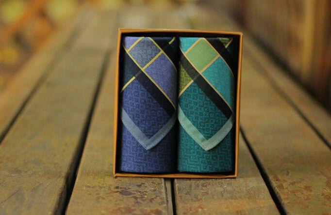 20167 2pcs Fashion Simple Mens Chest Towel Pocket Square Handkerchief Casual Business Hanky Wedding Handkerchief Pocket  LH0073