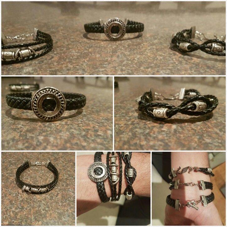 leather bracelet men's  fashion