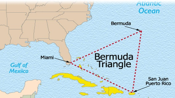The Bermuda Triangle  In the northwest of Atlantic ocean, lies the Bermuda Triangle. Within this triangle there are 7 large islands and 150 smaller islands which are really just clusters of coral. This triangle is also known as the triangle of evil – all high-tech equipment and all navigation equipment is not working properly in this place. Often even the communication with the world outside of this triangle has a problem. No one knows why and how to prevent this.25 Mysteries, Large Islands, Favorite Places, Atlantic Ocean, Mysteries Places, Nature Phenomena, Bermuda Azul Turquesa, Bermuda Triangles, Bermuda De
