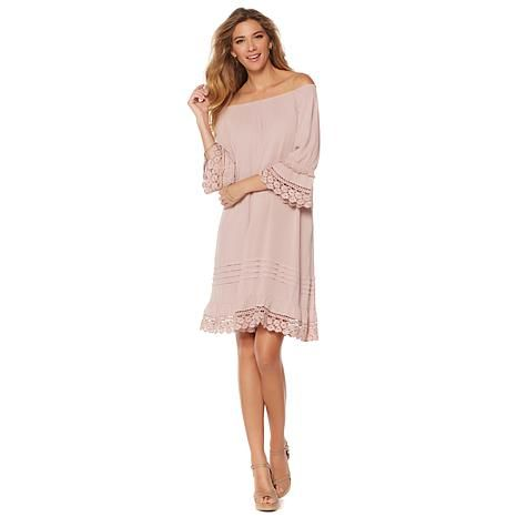 Daisy Fuentes Off-the-Shoulder Dress