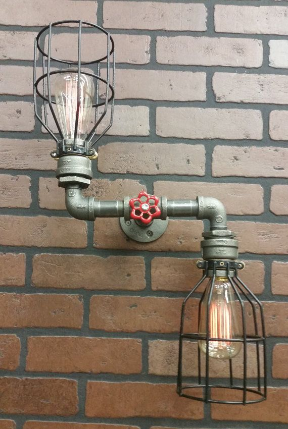 Zig Zag Wall Light - Steampunk Light - Vanity Light - Bathroom Light - Wall Sconce - Industrial Light - Bar Light - Sconce - Lighting