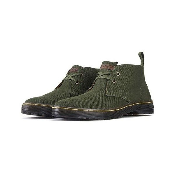 Dr. Martens The Mayport Chukka Boots in Forest Green (280 ILS) ❤ liked on Polyvore featuring men's fashion, men's shoes, men's boots, green, dr martens mens shoes, mens shoes chukka boots, dr martens mens boots, mens retro shoes and mens green shoes
