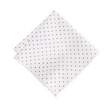 White dot cotton pocket square