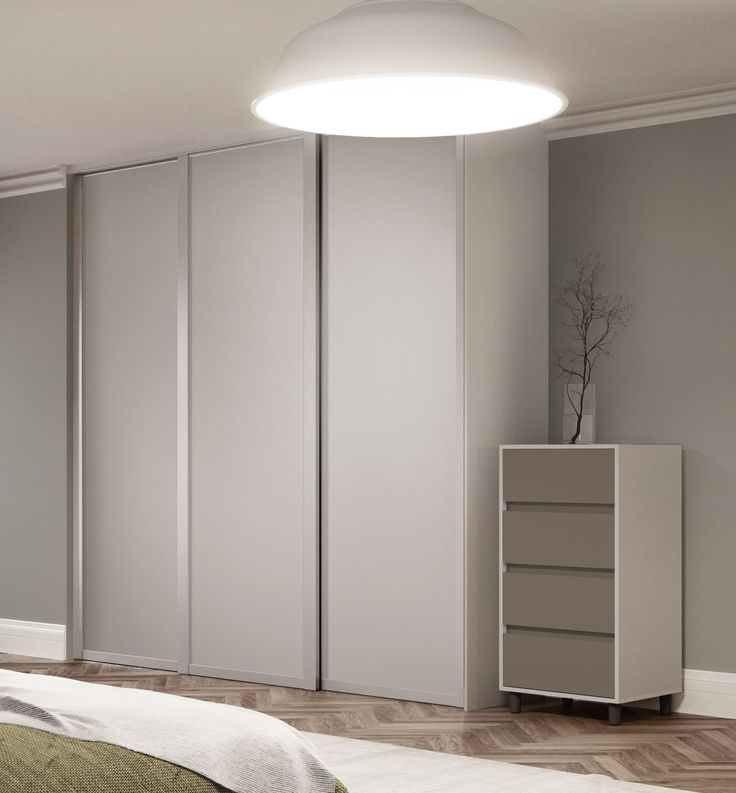 Deluxe Shaker Single Panel Sliding Wardrobe Doors In