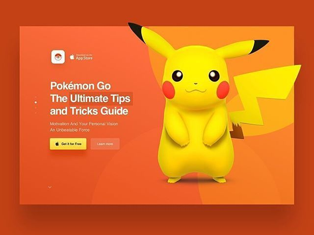 Logo inspiration:   Landing Page for Pokemon Go App by Max Stasiuk    Hire top quality creatives to grow your business at Twine. Twine can help you get a web design, web inspiration, website design, logo, graphic design, branding, ux design, ui design and more.