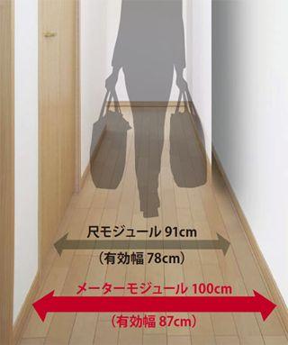 尺モジュール91cm 有効幅78cm メーターモジュール100cm 有効幅87cm