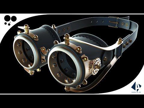 Tutorial Cinema 4D - Modelagem Óculos Steampunk (Steampunk Glass) - Render Keyshot - YouTube