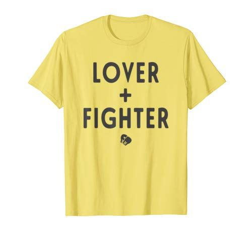 Lover   Fighter Boxing Kickboxing Funny Fitness Workout  T-Shirt