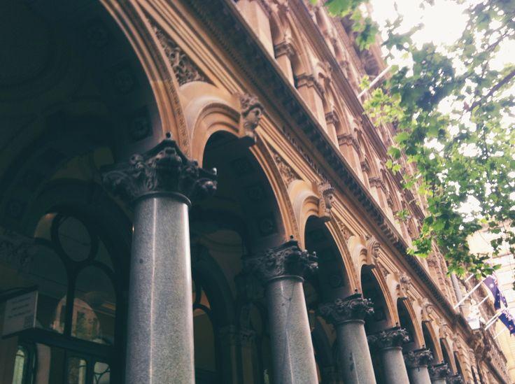 Grecian Columns in CBD Sydney
