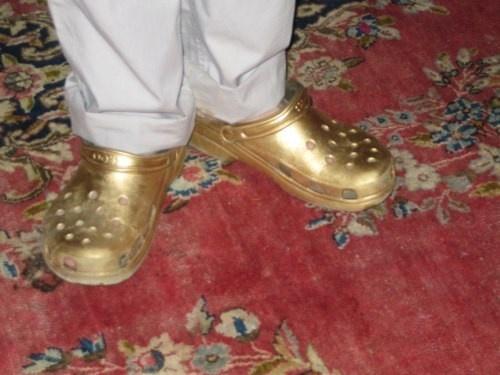 Golden crocs oooooo!
