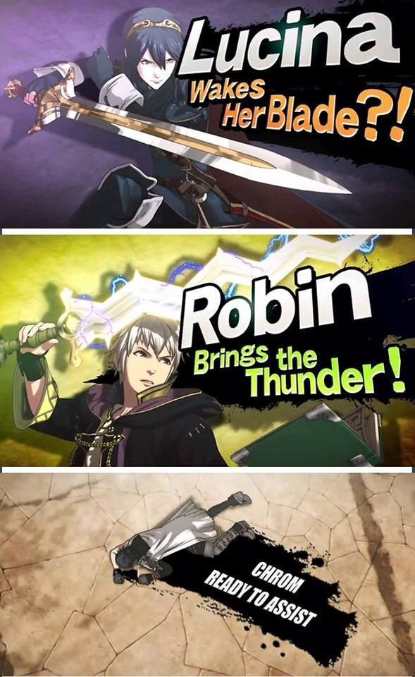 FEA and Smash - Lucina, Robin, and Chrom