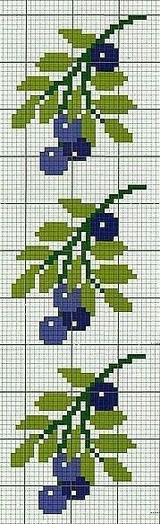 Fruit blueberry cross stitch.