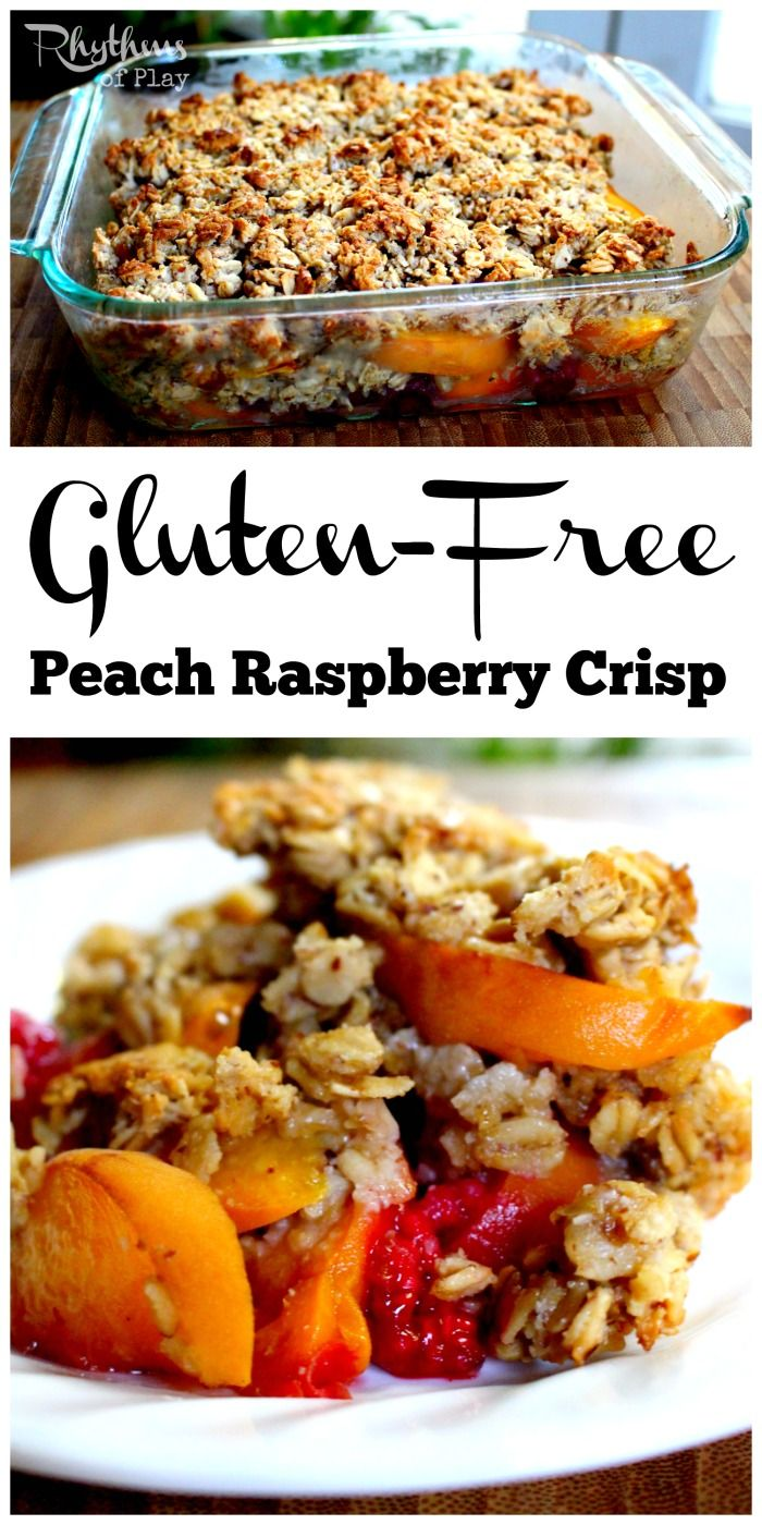 Gluten-Free Peach Raspberry Crisp Recipe | Fresh cream, Ovens and In ...