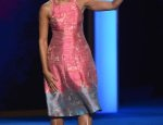 Michelle Obama stunned in a Tracy Reese dress at the Democratic National Convention -- she's pretty in pink!