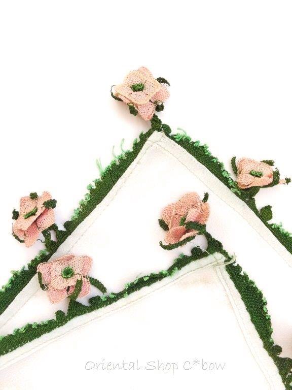 画像4: ◆アイドゥン|アンティークオヤスカーフ|シルク糸|花嫁必需品*アイドゥンの薔薇 (4)