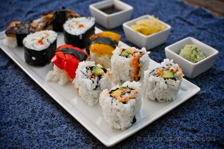 How to Make Vegan California and Teriyaki Tofu Sushi