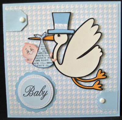 Ink-spirations: The Stork Is Coming! Baby and stork from New Arrival cart