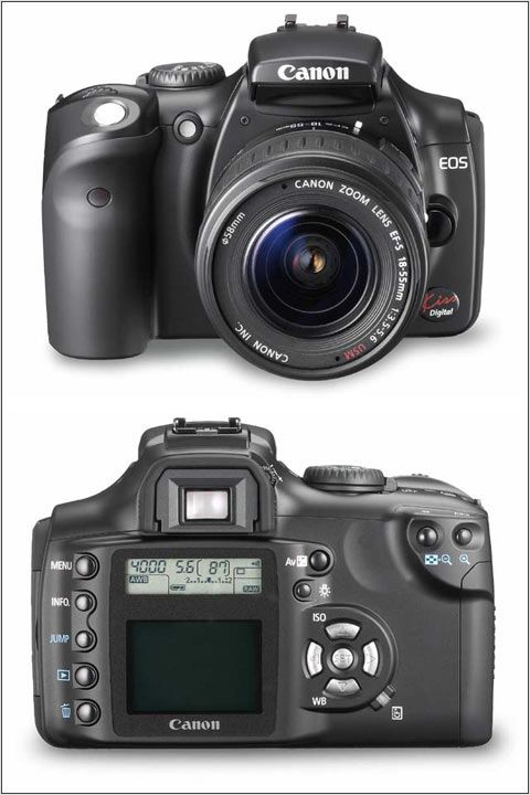 Black-bodied Canon Digital Rebel (EOS 300D): Digital Photography Review.   Nice wee camera and first digital SLR when I started out in 2004