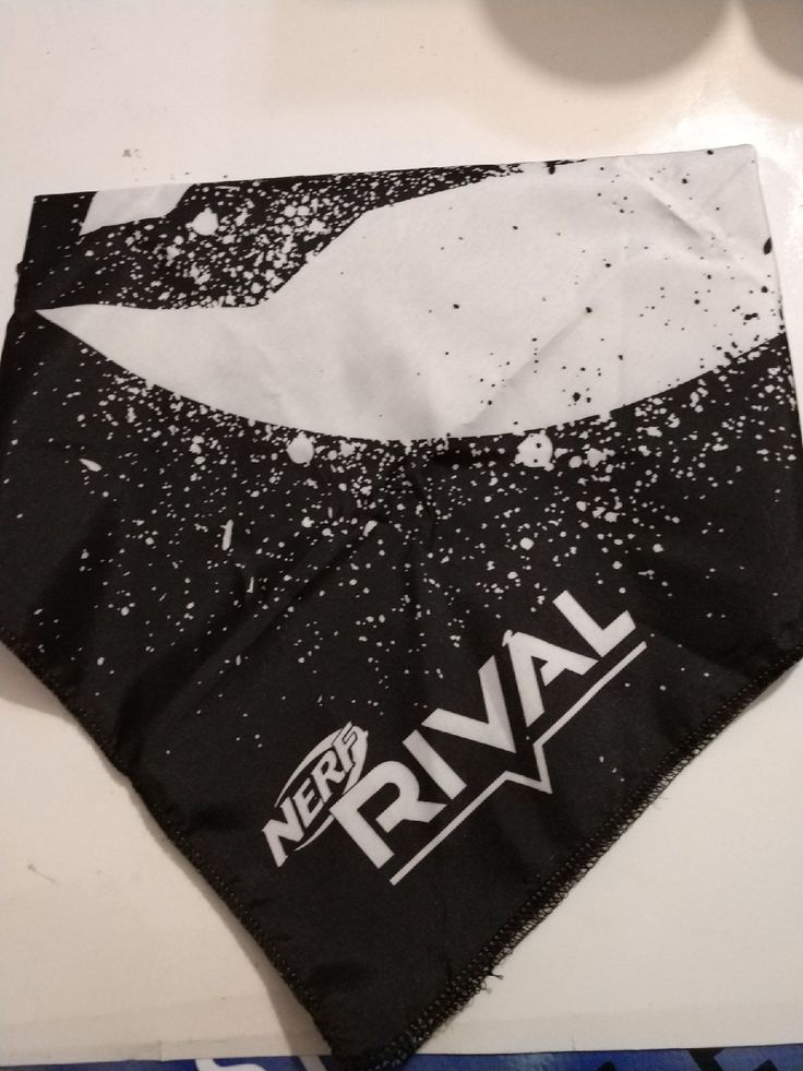 By no means worn black nerf rival bandana