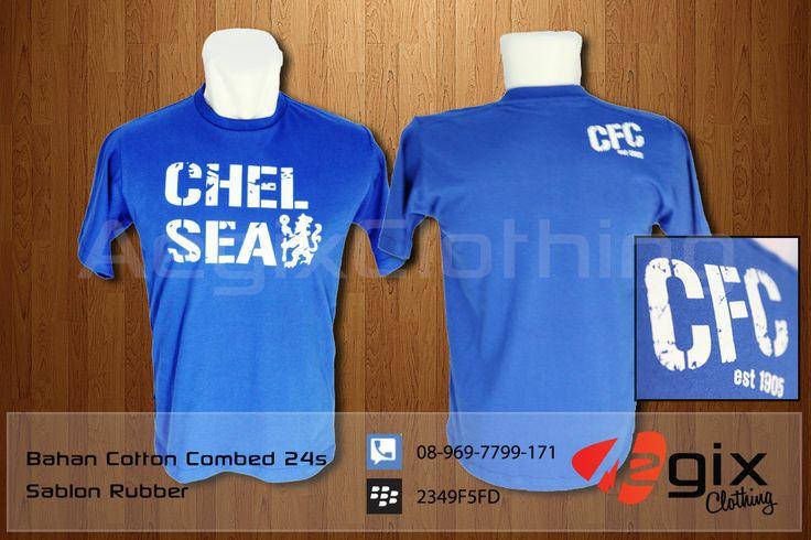 Kaos Chelsea yang terinspirasi dari jersey Chelsea ini berbahan cotton combed 24s berwarna Biru, nyaman dipakai dan lembut berpadu dengan sablon rubber berwarna putih, design sablon grunge memberi aksen sporty pria urban ini makes you more passionate!
