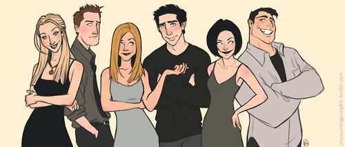 unassumingpumpkin:  Ted bought the Friends box set. I've been watching it a lot.