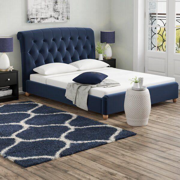 Haire Upholstered Bed Frame In 2020 Upholstered Bed Frame