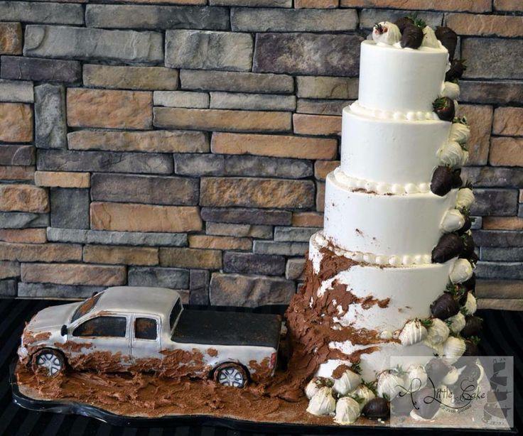 Muddy Truck Wedding Cake