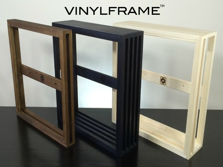 The natural way to store, display and organize your vinyl record collection - hand crafted in Canada from solid wood. #vinyl #vinylstorage #frame #recordstorage