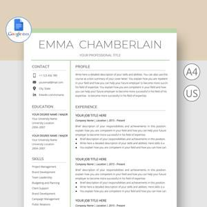 Google Docs Resume Template With Cover Letter Professional Etsy In 2021 Resume Template Resume Templates