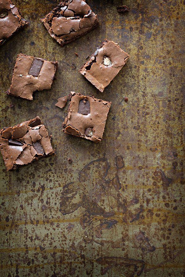 ... chocolate kit kat brownies ...