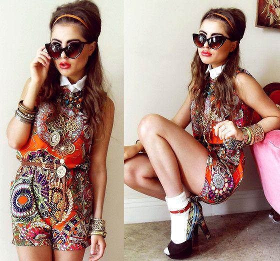 Mod mod mod mod.: Mod Mod, Collection Fashion, Mod Fashion, Bi Bebe, Aztec Prints, Pump, Fashion Hair, Bebe Zeva, Pink And Orange Outfits