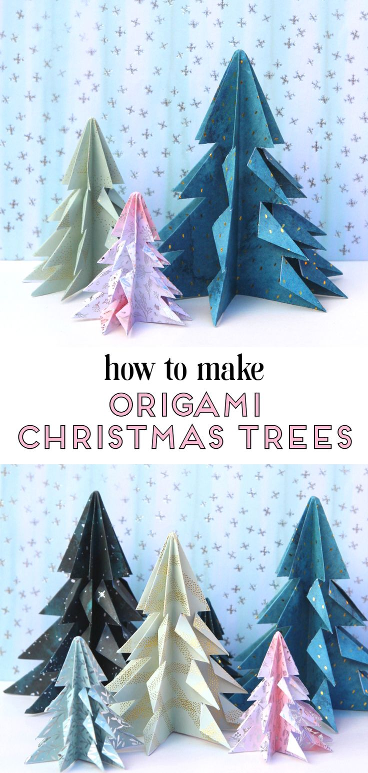 HOW TO MAKE EASY ORIGAMI CHRISTMAS TREES.