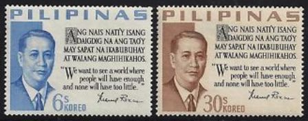Philippines Stamp - Presidents of the Philippines Manuel Roxas