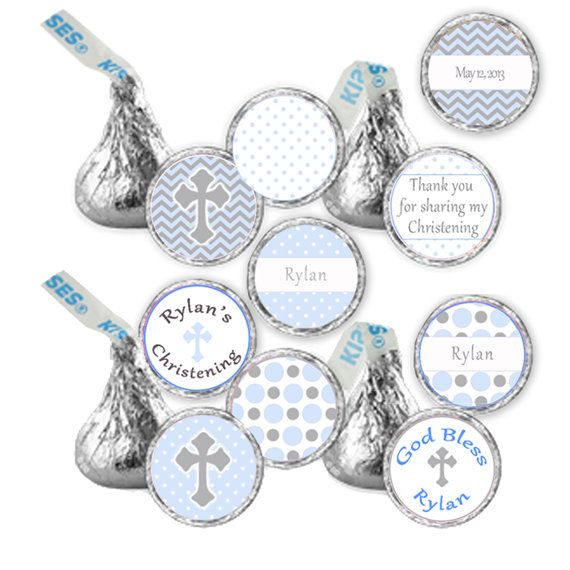 CANDY STICKERS  Printable Christening Baptism 1st by pinkthecat, $8.00