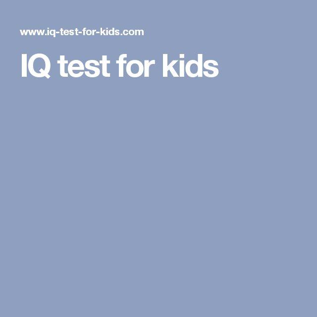 IQ test for kids