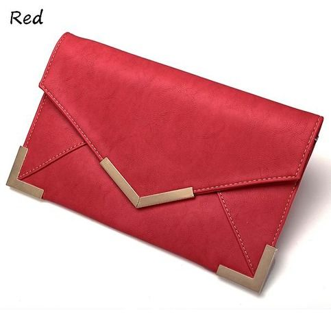 This clutch is of good material PU leather, envelope design is fashionable and popular now, it can be used as a clutch or a chain shoulder bag, six colors you can choose.  Details:  Material : PU                                      Color : Red,White,Nude,Yellow,Rose Red,Hot Pink Weight : A...