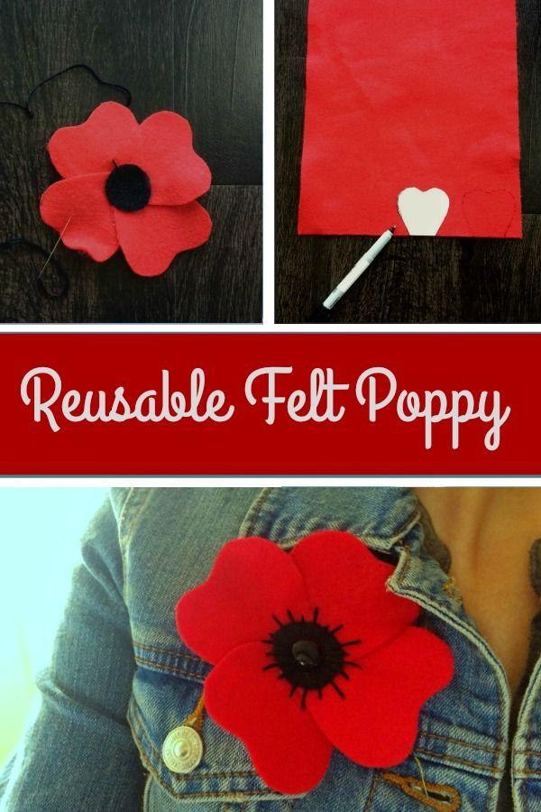 Felt poppy for remembering our fallen #remembrance #remembranceday #memorialday #poppy #poppyday #lestweforget