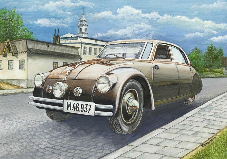 Modernizovaná verze prvního na světě sériově vyráběného aerodynamického automobilu Tatra 77 A (1936) Motor : vidlicový, čtyřdobý zážehový osmiválec chlazený vzduchem. měl oproti původnímu typu T 77 (1934) zvýšený zdvihový objem na 3380ccm. Vrtání /zdvih 80/84 mm. Rozvod OHC. Výkon 70 k (51,4 kW). Bateriové zapalování Bosch. Suchá jednolamelová spojka – Komet Mecano. Mechanická čtyřstupňová převodovka. Kapalinové brzdy. Ruční mechanická na zadní kola. Karosérie 5 – 6  místná. Max. rychlost…