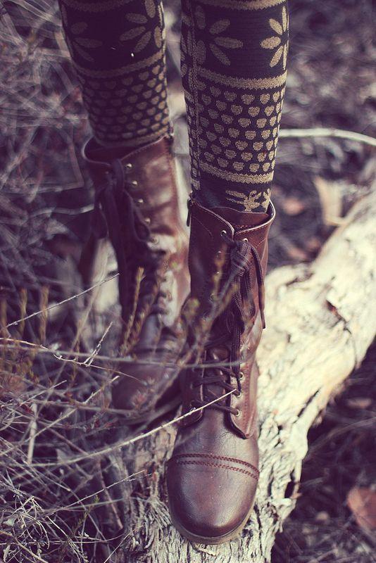 Boots + Print Leggings