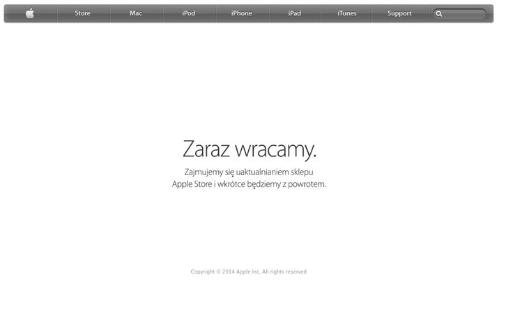 Apple Store DOWN - October 16, 2014