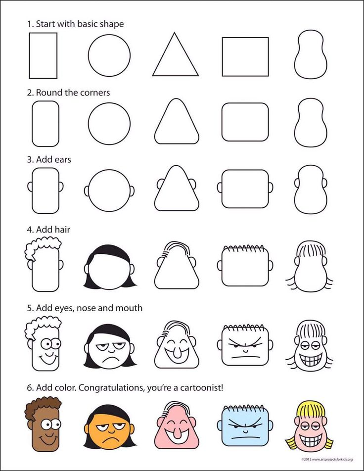 How to draw cartoon heads from simple shapes. Cartoon Cc Cycle 3 Week 18