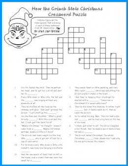 grinch printable crossword puzzle
