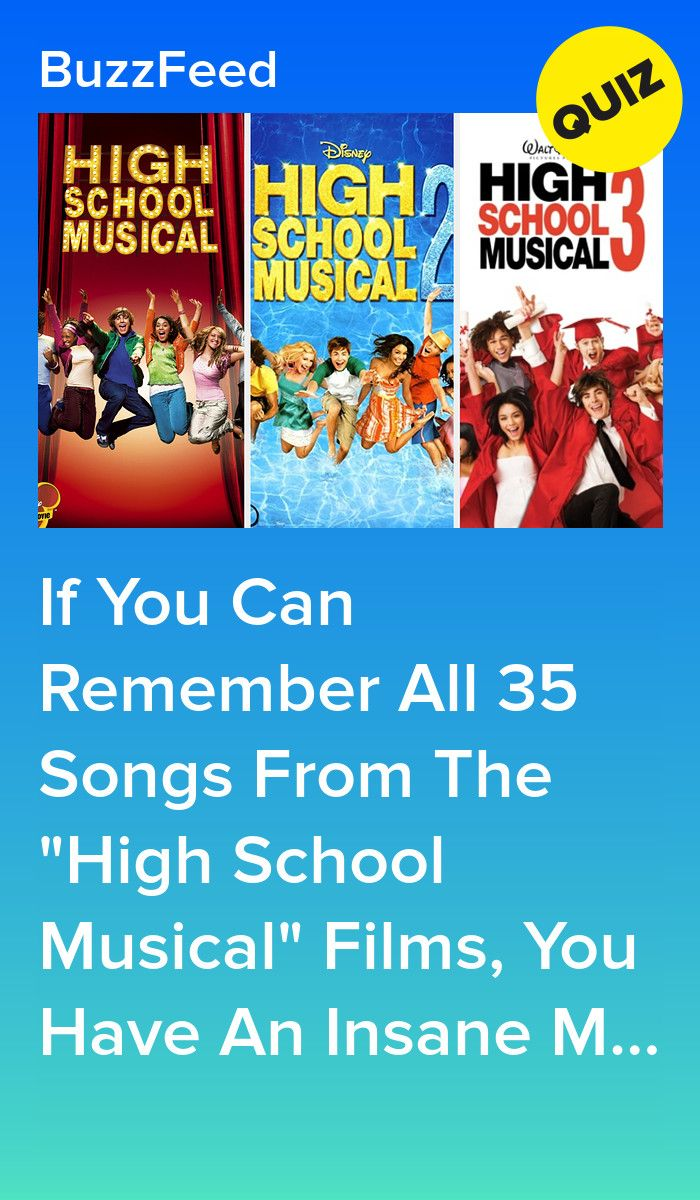 How Many High School Musical Songs Can You Name In 2020 High School Musical High School Musical Film High School