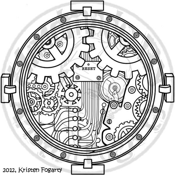 Steampunk Access Portal Tattoo by KV-Arts.deviantart.com on @deviantART