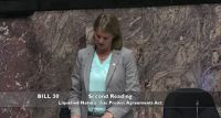 July 14 -- MLA Rice outlines her objections to the Petronas/Pacific NorthWest LNG agreement