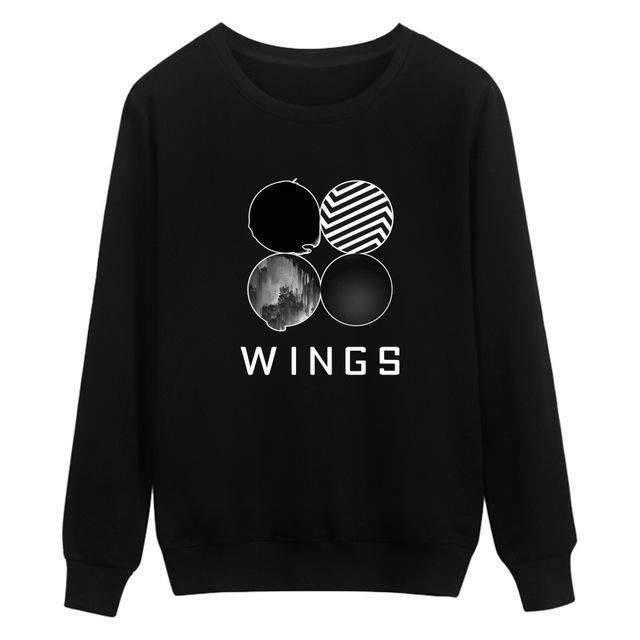 BTS Capless Sweatshirt Women Cotton Fashion Korean Popular Kpop Hoodies Women Winter Bangtan Hip Hop Wing Album Casual Clothes
