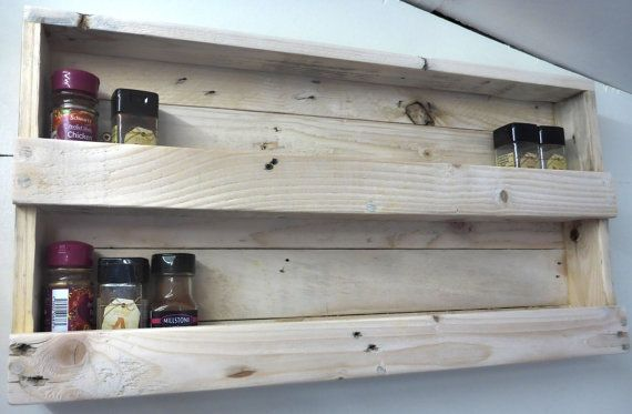 Pallet Spice Rack  Handmade Rustic by WingerworthWoodWorks on Etsy